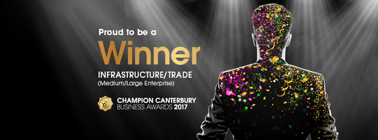 Proud to be a Winner in the 2017 Champion Canterbury Business Awards